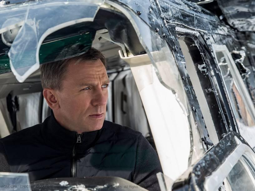 Daniel Craig como James Bond em 007 Contra Spectre