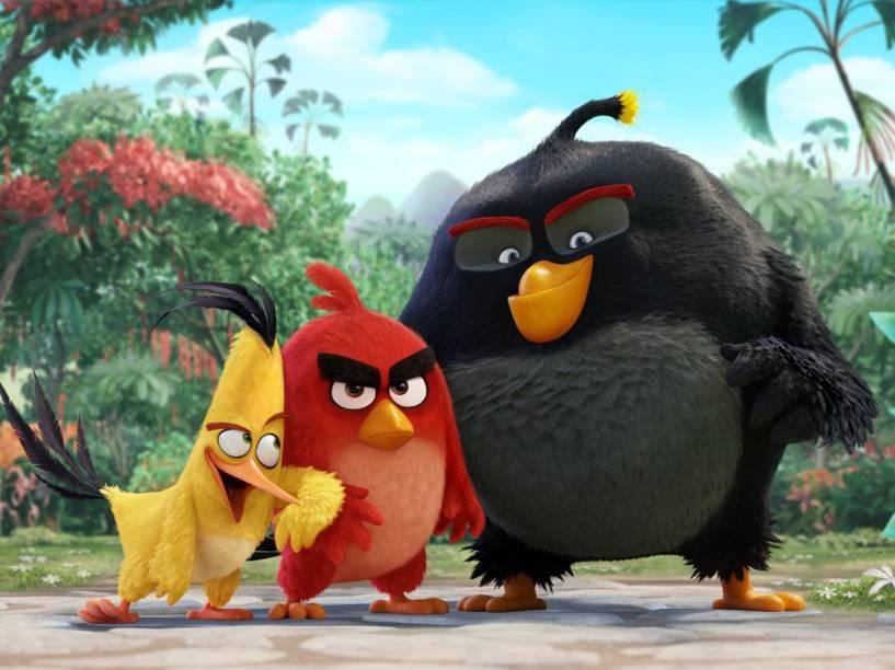 Chuck, Red e Bomba, os protagonistas de Angry Birds - O Filme