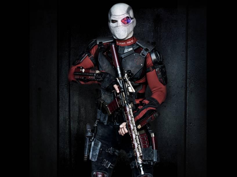 Personagem Deadshot, protagonizado por Will Smith no filme Esquadrão Suicida