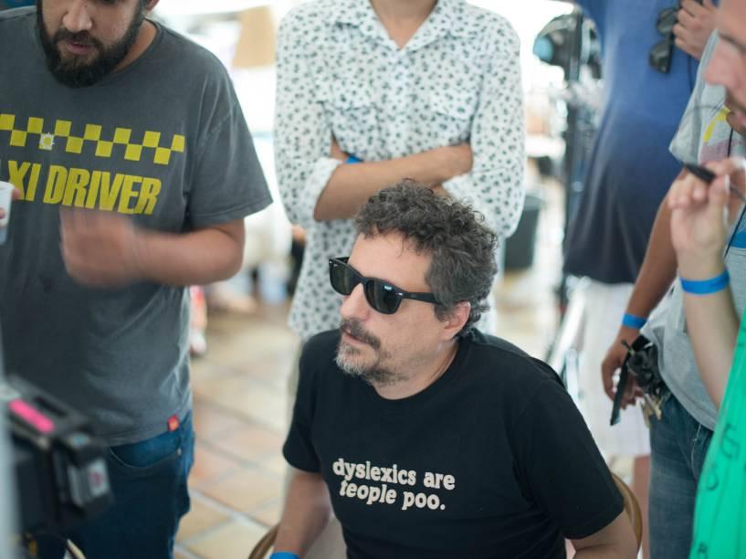 O diretor Kléber Mendonça Filho durante as gravações do Filme Aquarius