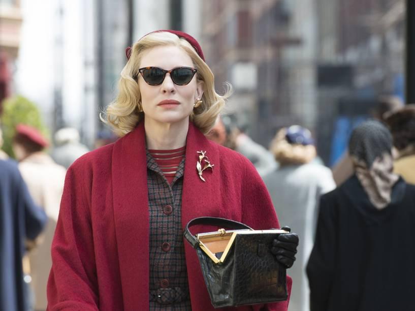 Cate Blanchett (Carol Aird) em cena do filme 'Carol'