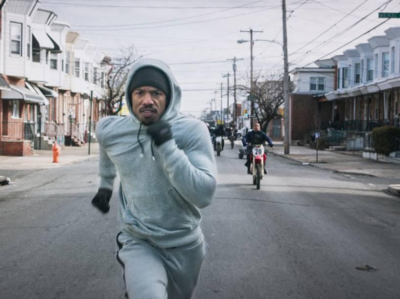 Michael B. Jordan (Adonis Johnson) em cena do filme Creed: Nascido Para Lutar