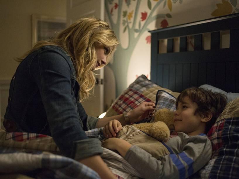 Chloë Grace Moretz (Cassie Sullivan) e Zackary Arthur (Sam Sullivan) no filme A 5ª Onda
