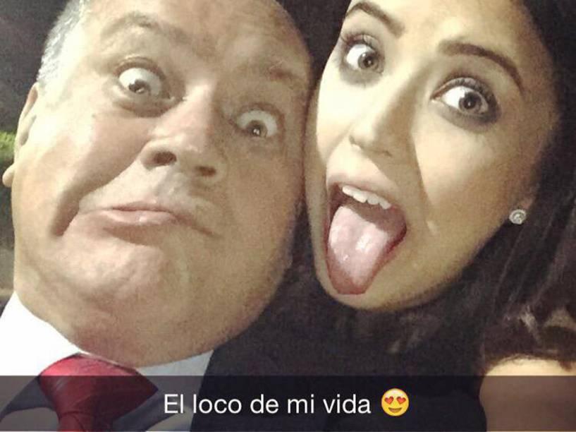 O deputado venezuelano Diosdado Cabello e sua filha Daniella, que virá estudar no Brasil