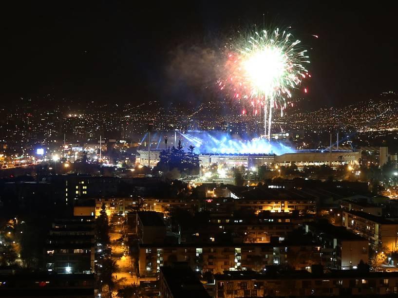 Cerimônia de abertura da Copa América 2015, no Nacional de Santiago
