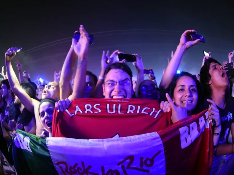 Apresentação da banda norte-americana Metallica no segundo dia do Rock in Rio 2015