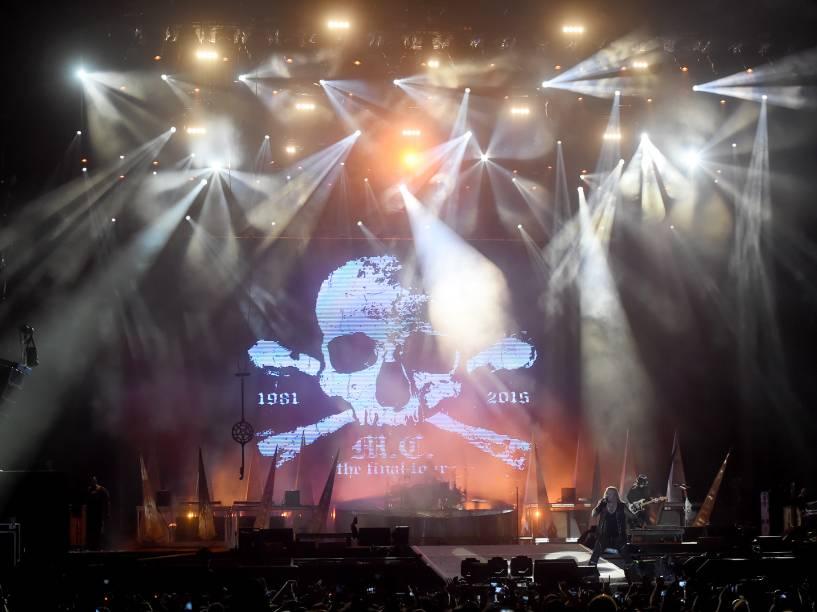Apresentação da banda Mötley Crüe no segundo dia do Rock in Rio 2015