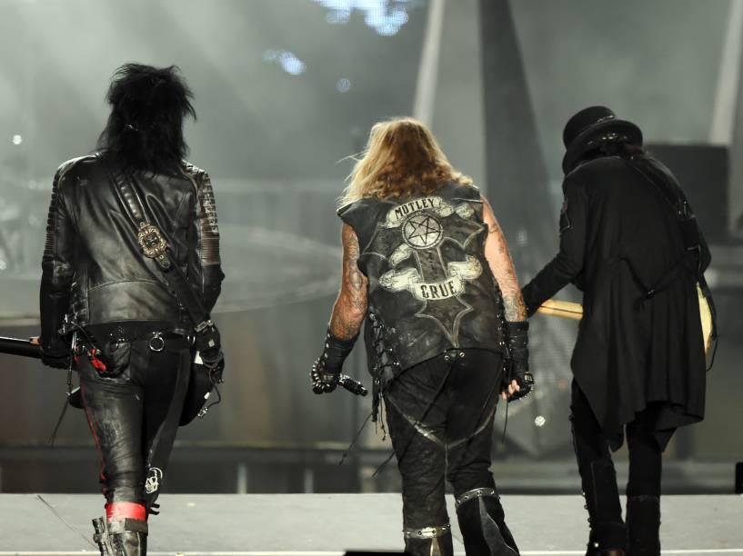 Mötley Crüe faz o show com a excursão The Final Tour, no Rock in Rio 2015
