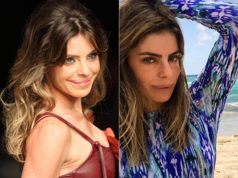 A boca de Daniela Cicarelli: antes e depois