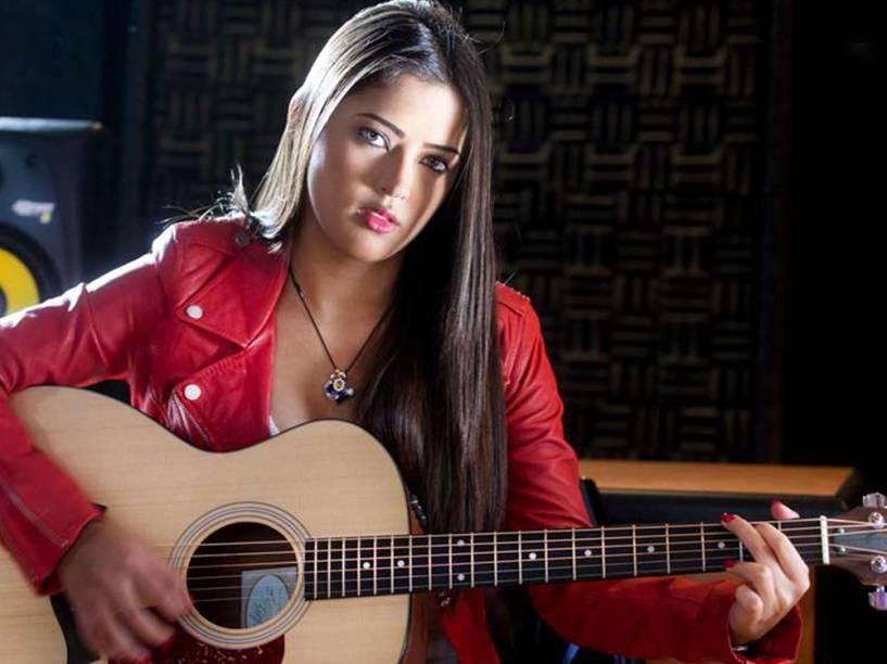 Daniella Cabello, filha do deputado venezuelano Diosdado Cabello, em um dos vários vídeos em que apresenta-se como dublê de cantora