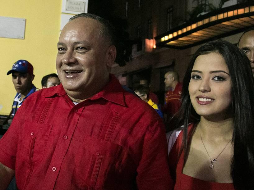 Daniella Cabello e seu pai, o deputado venezuelano Diosdado Cabello
