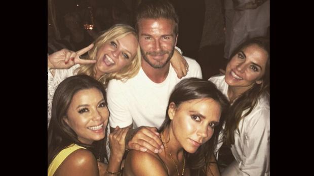 David Beckham comemora 40 anos com reunião das Spice Girls