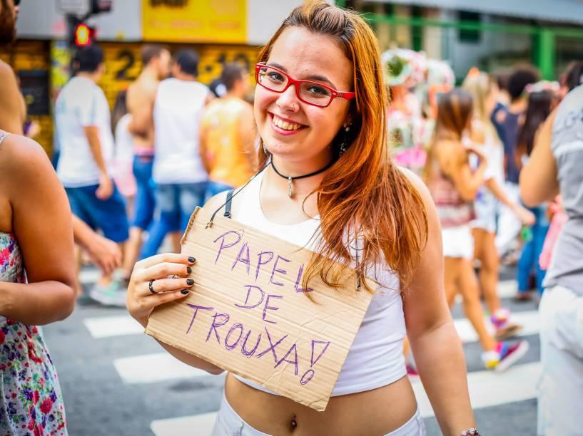 O Bloco do Desmanche desfilou da Rua Augusta até o Vale do Anhangabaú, na região central de São Paulo, neste domingo (07)