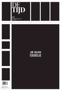 De Tijd, jornal belga, também fez homenagem ao atentado à sede da revista Charlie Hebdo