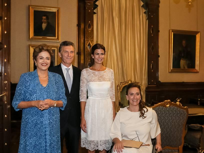 Presidente Dilma Rousseff durante cerimônia de posse do Presidente da República da Argentina, Maurício Macri - 10/12/2015