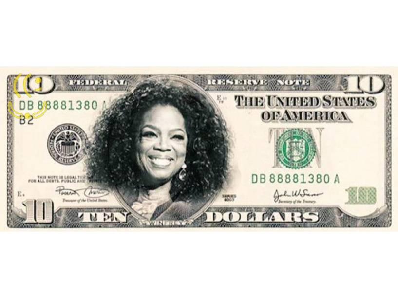 Oprah na nova nota de 10 dólares