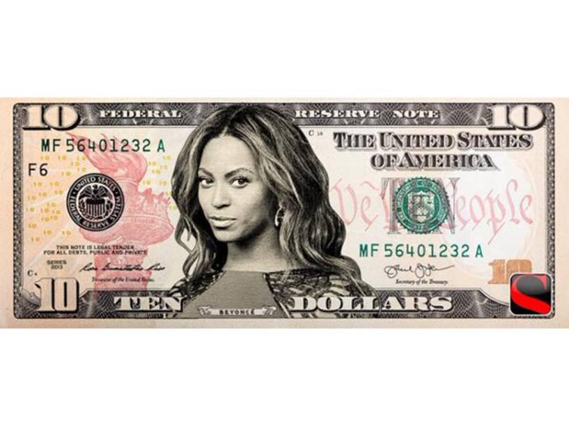 Beyonce na nova nota de 10 dólares