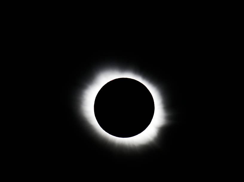 <p>Eclipse Solar em Svalbard, Noruega </p>
