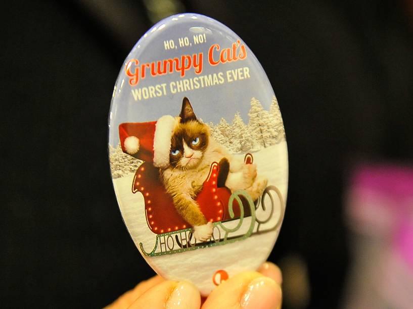 <p>Bottom de Natal da Grumpy Cat</p>