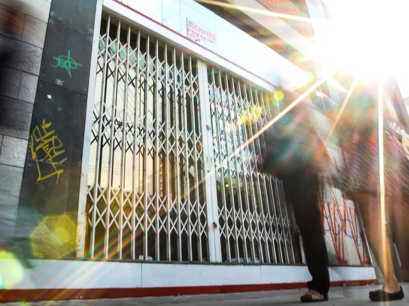 Paleteria que faliu na rua Fradique Coutinho, em Pinheiros