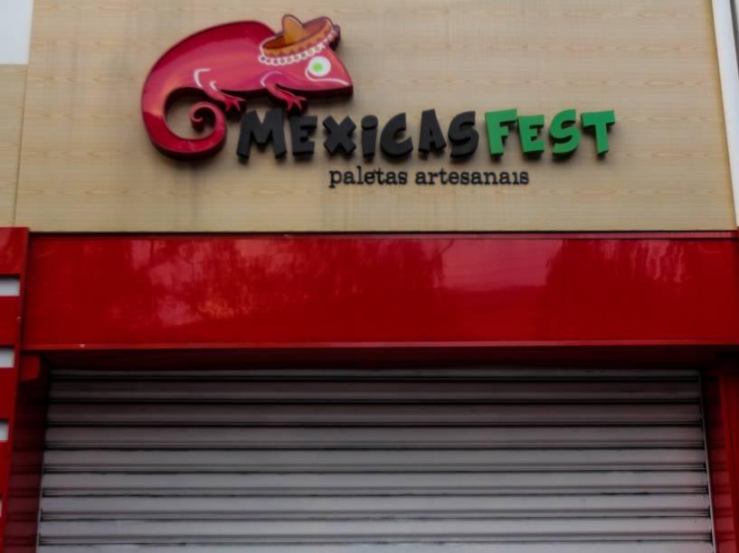 Paleteria fechada na Rua Coronel Melo de Oliveira, em Perdizes