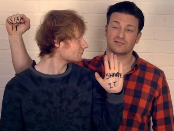 Ed Sheeran e Jamie OIliver