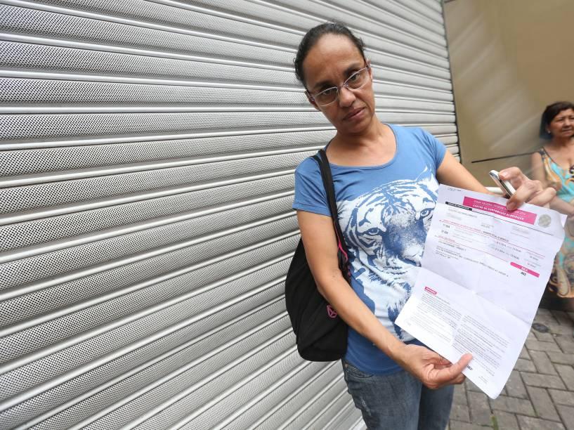 Sandra Nascimento, 50, perdeu o primeiro dia de provas do Enem pois chegou atrasada quatro minutos