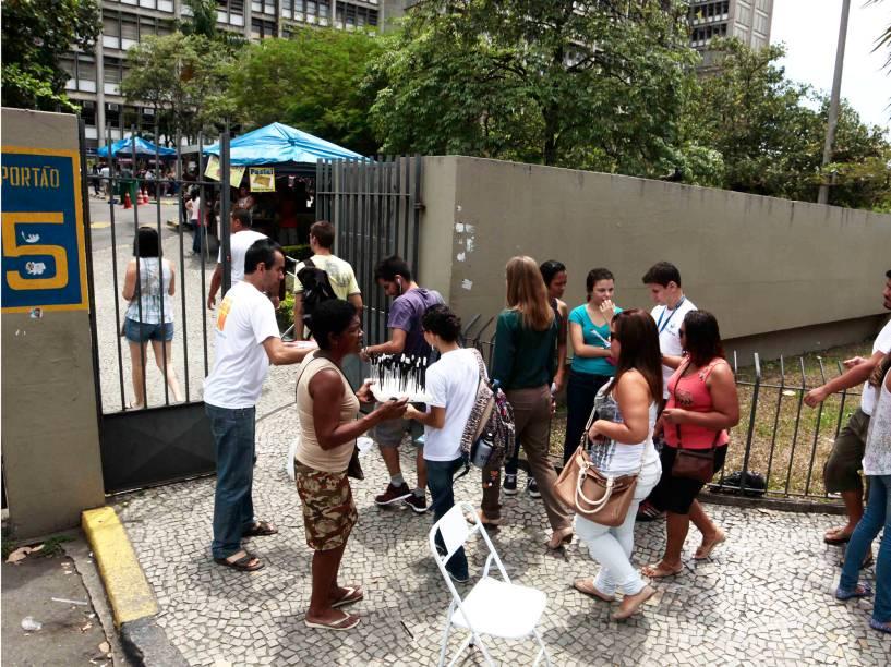 Movimentação no primeiro dia do Enem na Uerj Pavilhão Reitor João Lyra Filho, no Rio de Janeiro