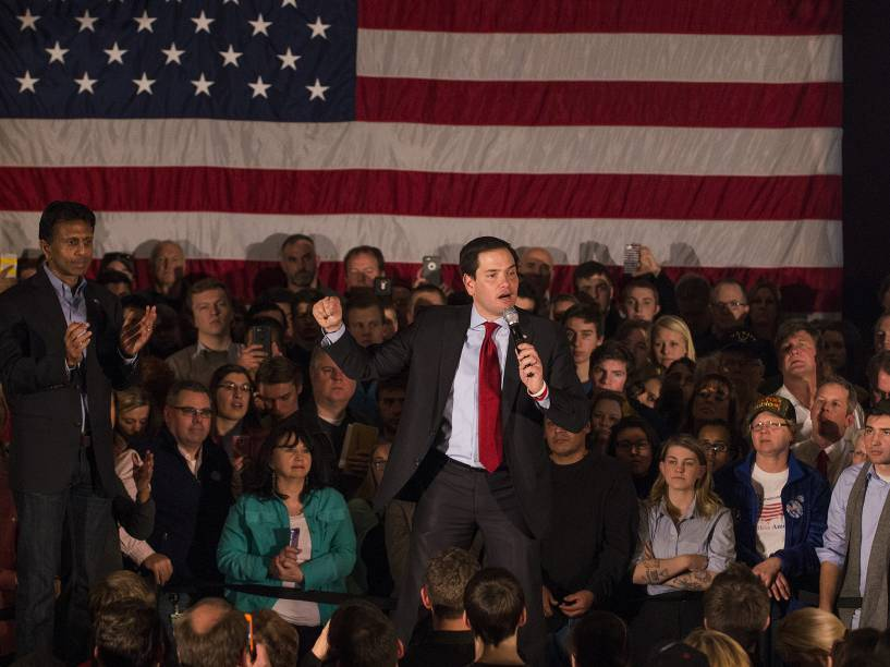 O senador Marco Rubio - Treze estados e um território norte-americano realizam prévias eleitorais na Superterça