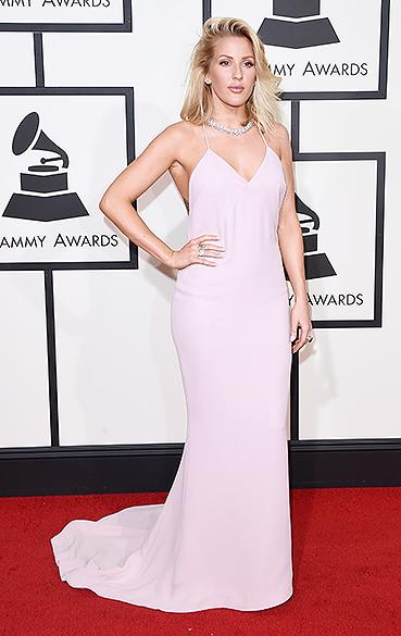 Ellie Goulding durante a 58ª edição do Grammy, premiação que elege os melhores da música internacional, que acontece nesta segunda-feira (15)