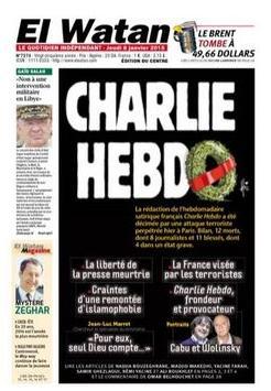 O El Watan, da França, faz homenagem aos jornalistas da Charlie Hebdo mortos nesta quarta-feira