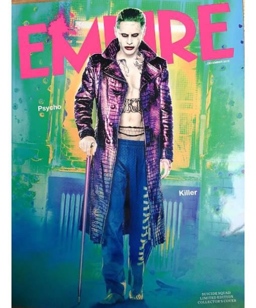 Capa da revista Empire revela o figurino do Coringa de Jared Leto