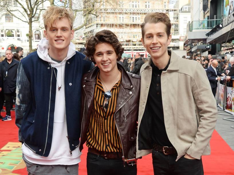 A banda The Vamps, durante a premiere do filme Kung Fu Panda 3, no Odeon Leicester Square, em Londres - 06/03/2016