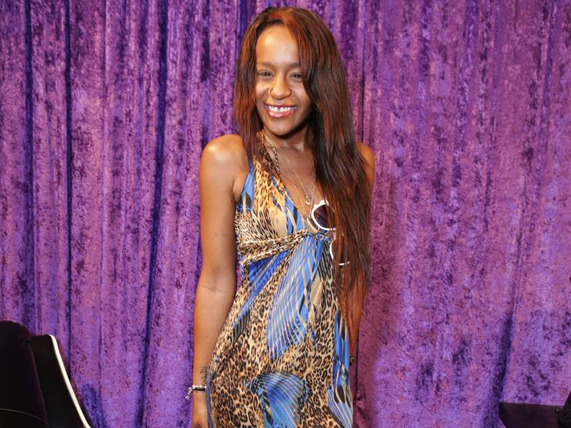 Bobbi Kristina Brown, filha de Whitney Houston, durante cerimônia do Grammy em 2014