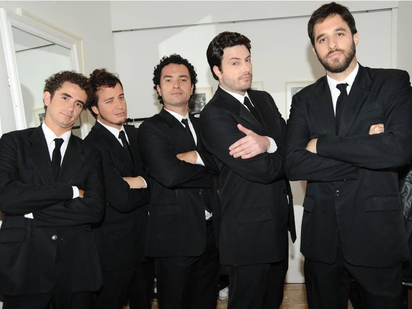 Felipe Andreoli, Rafael Cortez, Marco Luque, Danilo Gentili e Rafinha Bastos, integrantes do programa CQC, em 2009