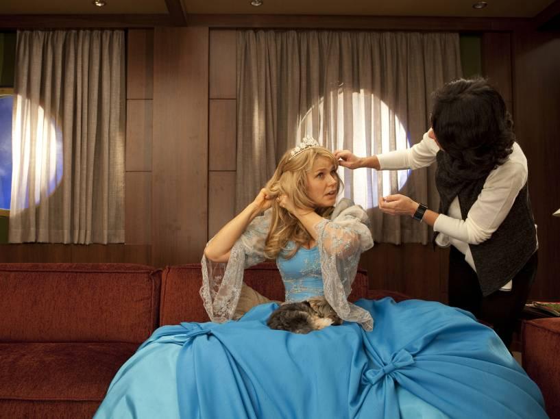 A cantora e atriz no set de filmagens do longa Xuxa em: O Fantástico Mistério de Feiurinha, de Tizuka Yamazaki - 2009