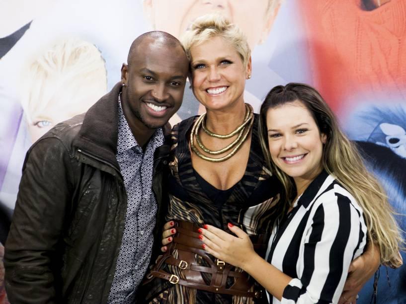 Xuxa com o casal de amigos, Thiaguinho e Fernanda Souza - 2013