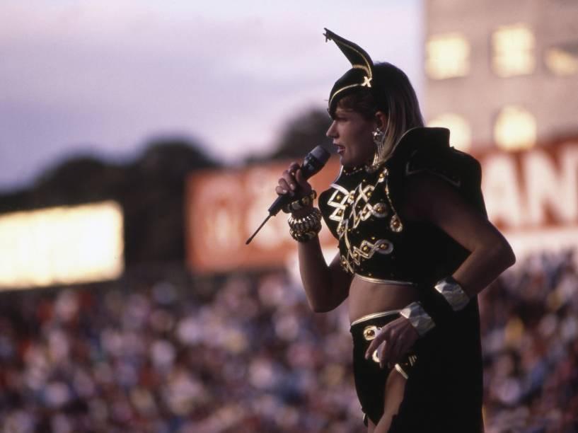 Xuxa se apresenta no Estádio do Parque Antártica, em São Paulo - 1989