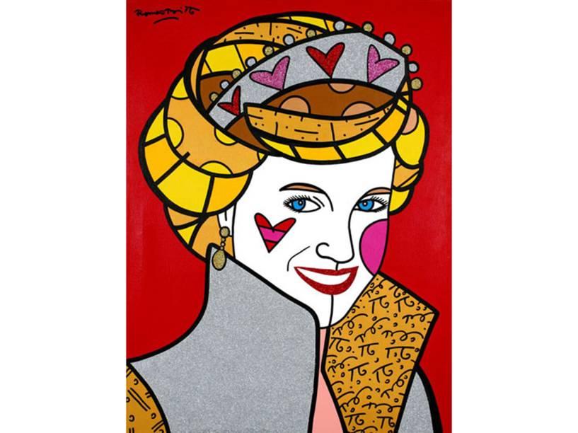 Princesa Diana foi uma das personalidades retratadas pelos traços de Romero Britto