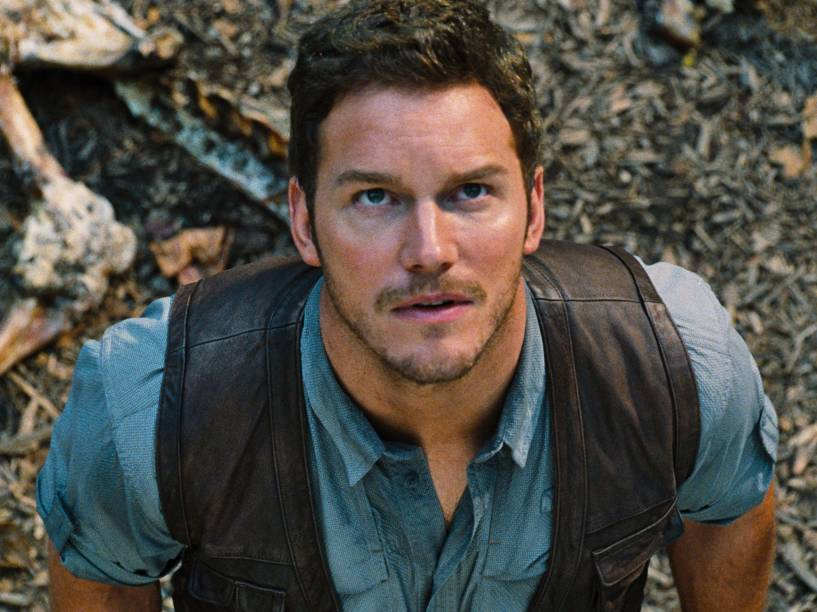 <p>Chris Pratt no filme 'Jurassic World' (2015)</p>