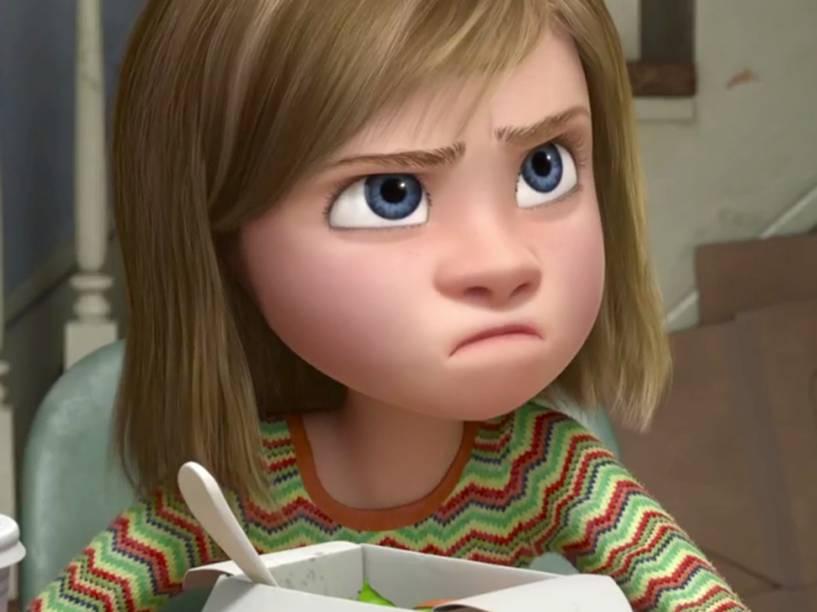 A personagem Riley no filme Divertida Mente