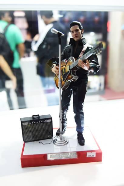 Réplica de Elvis Presley é exposta durante a Comic Con Experience 2014, em São Paulo
