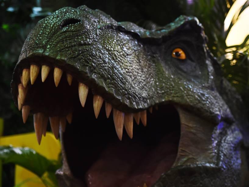 Estande do Jurassic Park durante a Comic Con Experience 2014 em São Paulo