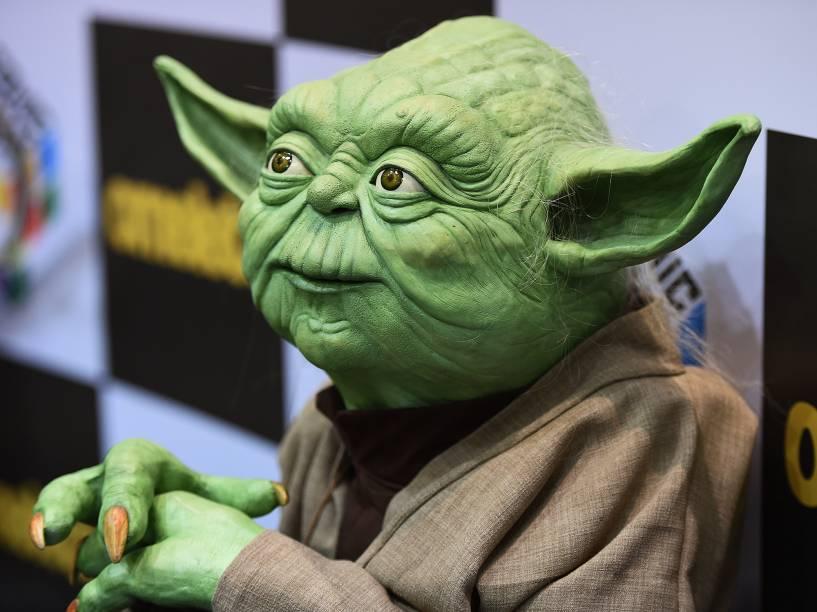Boneco do Mestre Yoda durante a Comic Con Experience 2014 em São Paulo