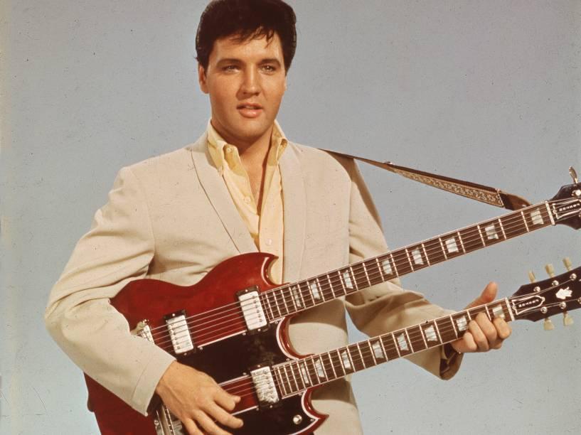 Elvis Presley, em um retrato na década de 50