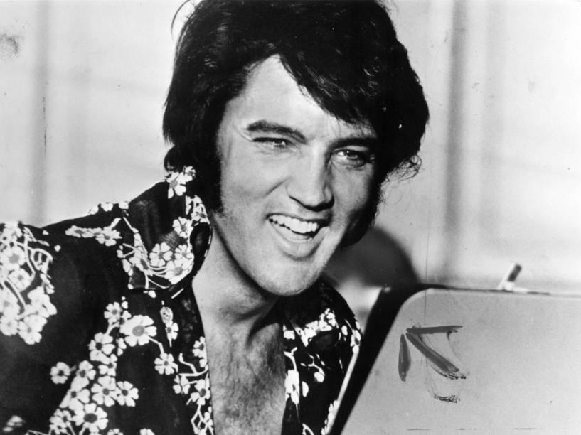 Elvis Presley em retrato na década de 1970