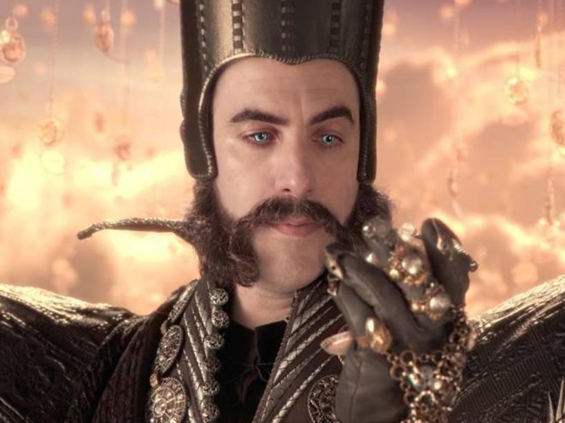 Tempo (Sacha Baron Cohen) no filme Alice Através do Espelho