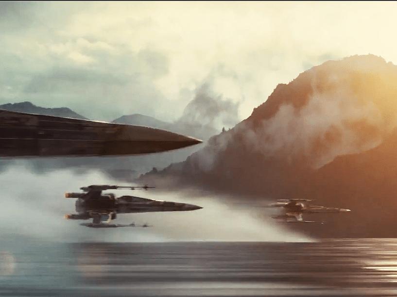 Frame do trailer que foi lançado nesta sexta (28) do filme Star Wars: Episódio VII