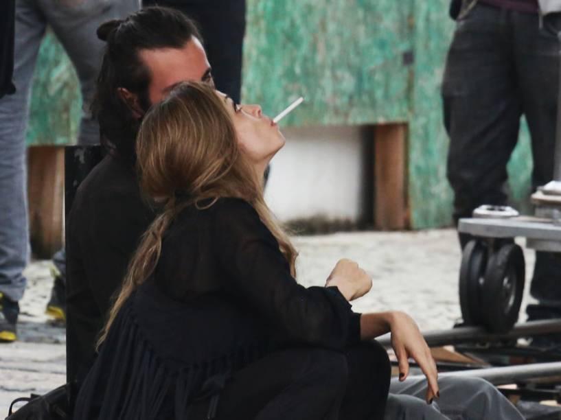 Grazi Massafera grava cenas 'se drogando' na novela 'Verdades Secretas' da Globo, na Barra da Tijuca, Rio de Janeiro