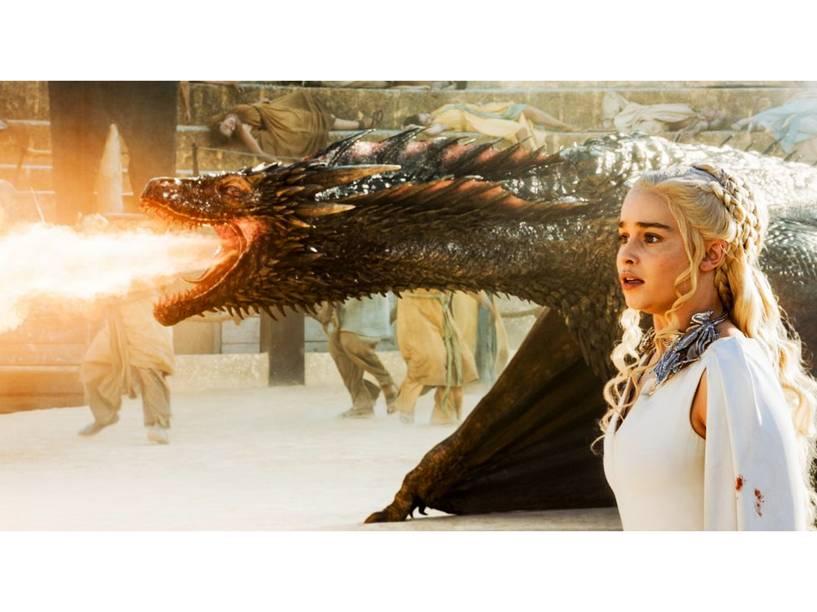 Daenerys Targaryen (Emilia Clarke) na 5ª temporada de Game of Thrones